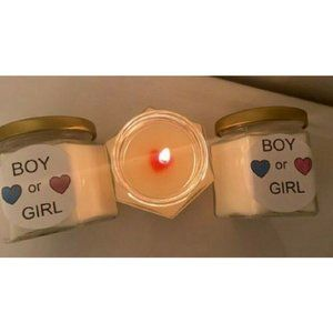 Gender Reveal Candles -- clean burning Coconut Wax